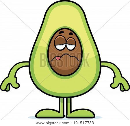 Sick Cartoon Avocado