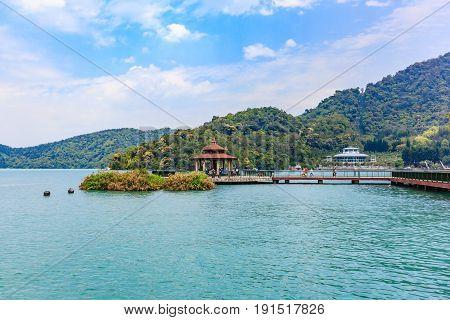 Landscape of Sun-Moon Lake in Nantou Taiwan