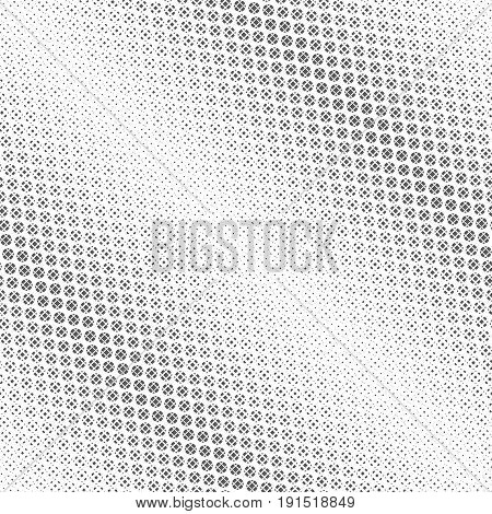 Seamless pattern. Abstract halftone background. Modern stylish texture. Repeating diagonal tiled grid with scattered dots of the different size. Vector contemporary design