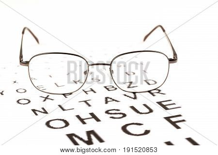Sight test for glasses vision testing ophthalmologist