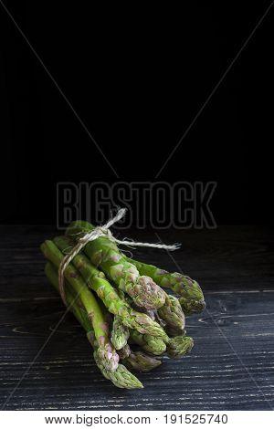 Bunch Of Wild Green Asparagus