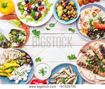 Greek Food Background