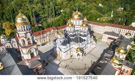 The Christian landmark of the New Athos monastery