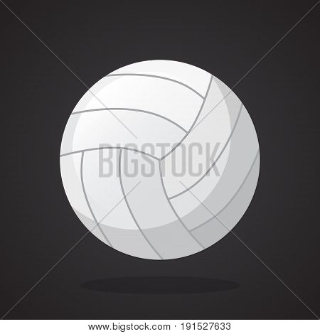 Vector illustration in flat style. Leather volleyball ball. Sports equipment. Decoration for greeting cards, prints for clothes, posters, wallpapers
