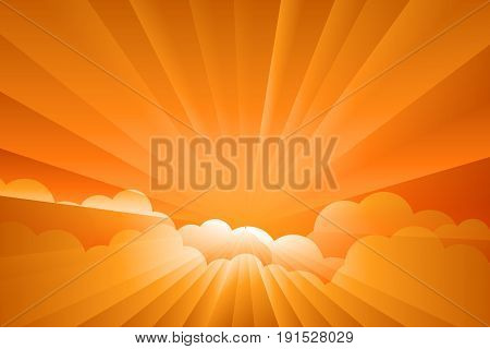 sunburst sunrise Illustration . Vector Illustration design