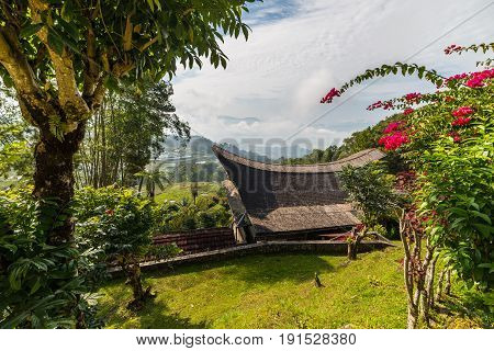 Little Traditional Village With Tipical Boat Shaped Roofs In Idyllic Location Among Beautiful Terrac