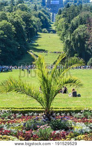 Landscape Kassel Wilhelmshoehe Castle Park, Hesse, Germany