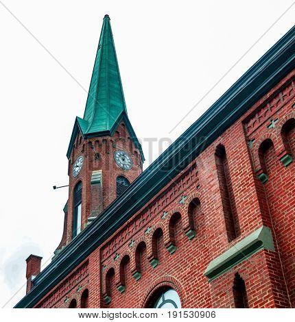Reurposed Church In Old Pittsburgh Neighborhood With Steeple Clock Tower