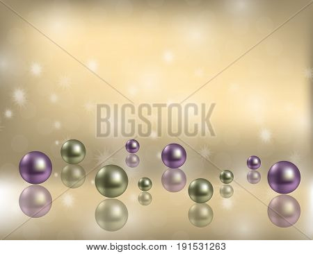Luxury Shiny Pearls Background with decorative bokeh Flecks and space for Some Text.