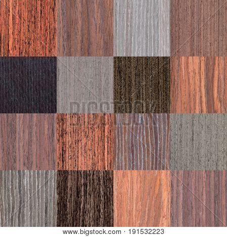 Setting Of Dark Natural Wooden Texture, Tree Veneer Background