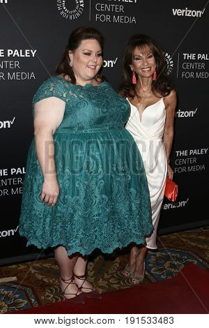 NEW YORK - MAY 17: Chrissy Metz (L) and Susan Lucci attend The Paley Honors: Celebrating Women in Television at Cipriani Wall Street on May 17, 2017 in New York City.