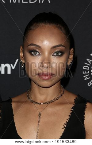 NEW YORK - MAY 17: Logan Browning attends The Paley Honors: Celebrating Women in Television at Cipriani Wall Street on May 17, 2017 in New York City.