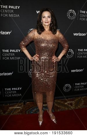 NEW YORK - MAY 17: Lynda Carter attends The Paley Honors: Celebrating Women in Television at Cipriani Wall Street on May 17, 2017 in New York City.