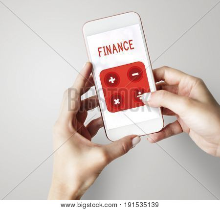 Illustration of financial trading investment calculating on mobile phone