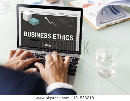 Business Ethics Strategy Development Concept