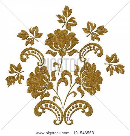 Gold decoration elements. Gold vintage Pattern.