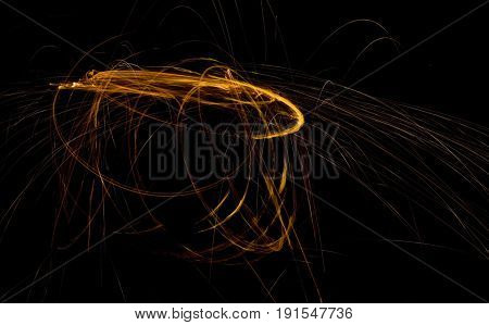 Doomsday Asteroid Orbiting Trajectory Abstract Visualization
