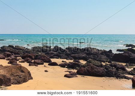 Turquise Sea With A Tropical Beach.