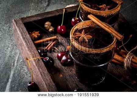 Spicy Cherry Sangria