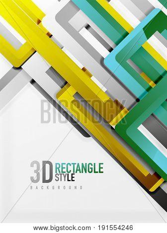 Rectangle tube elements, 3d background