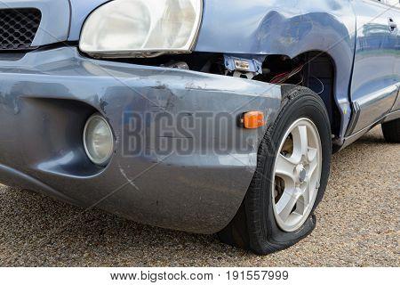 Flat Tire Car