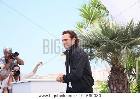 Joaquin Phoenix attends the 'You Were Never Really Here' photocall during the 70th  Cannes Film Festival at Palais des Festivals on May 27, 2017 in Cannes, France.