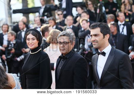 Mohammad Akhlaghirad, Mohammad Rasoulof, Soudabeh Beizaee attend the 'Based On A True Story' screening during the 70th Cannes Film Festival at Palais des Festivals on May 27, 2017 in Cannes, France.
