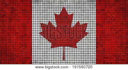 Grunge mosaic flag of Canada with effect - 3D Illustration,   Abstract grunge mosaic vector