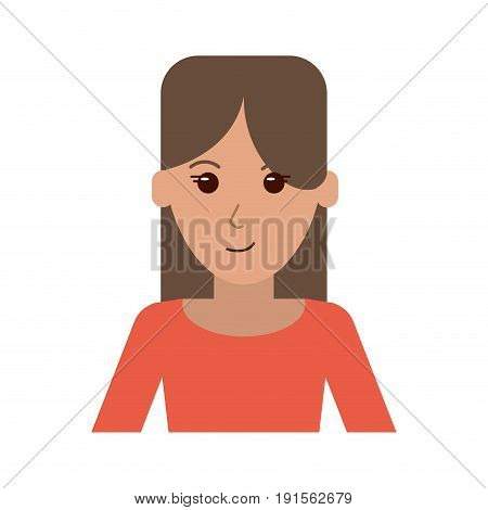 portrait of happy woman with professional appearance icon image vector illustration design