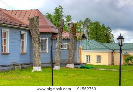 Valdai Iversky Bogoroditsky Svyatoozersky Monastery yard suummer