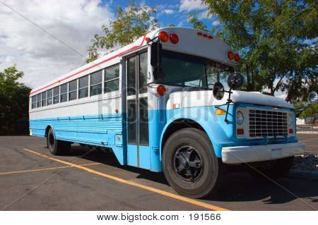 Red White And Blue Bus