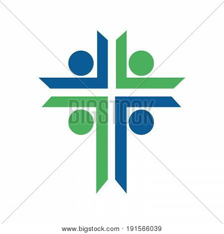 People church vector logo. Template logo for churches and Christian organizations cross . Calvary cross church logo .