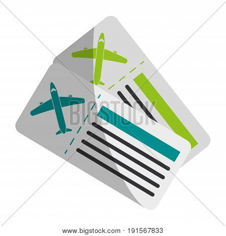 boarding pass two icon image vector illustration design