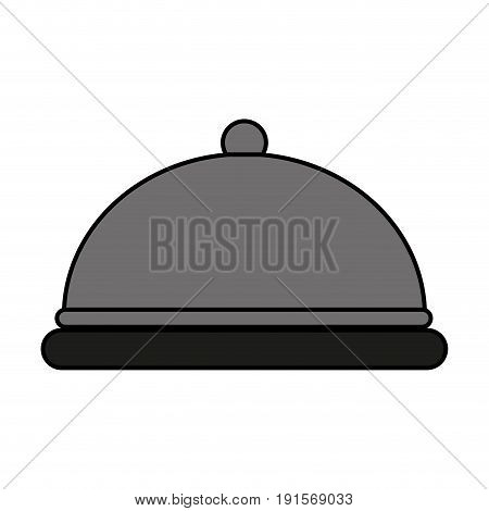 silver covered platter icon image vector illustration design