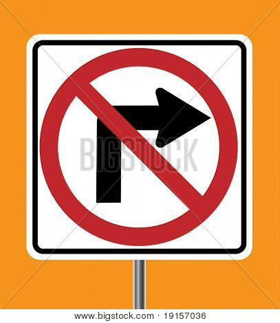 No Right turn sign - VECTOR