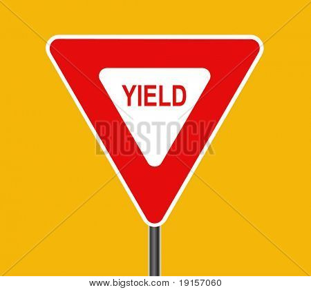 Yield traffic sign - VECTOR