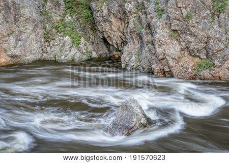 spring runoff of Cache la Poudre River above Fort Collins, Colorado