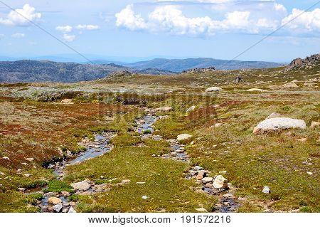 Snowy Mountains Plateau near Thredbo in summer - New South Wales Australia