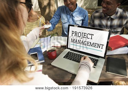 Project Management Work Process Organisation Concept