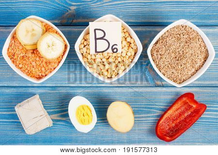 Products And Ingredients Containing Vitamin B6, Dietary Fiber And Natural Minerals