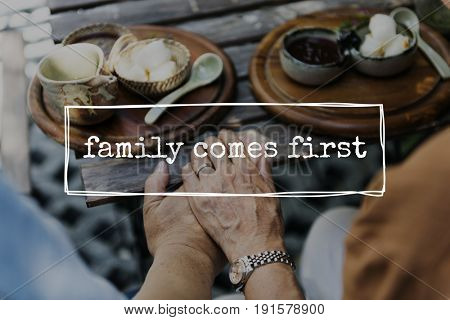 Family Forever Love Together Word