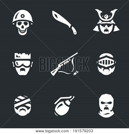 Soldier, machete, samurai, yakuza, rifle, knight, mummy, grenade, maniac.