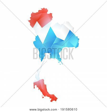 vector map of thailand polygon  illustration isolated
