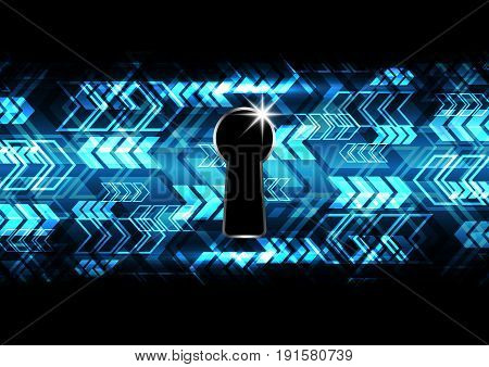 Technology Digital Future Abstract Cyber Security Keyhole Arrow Background