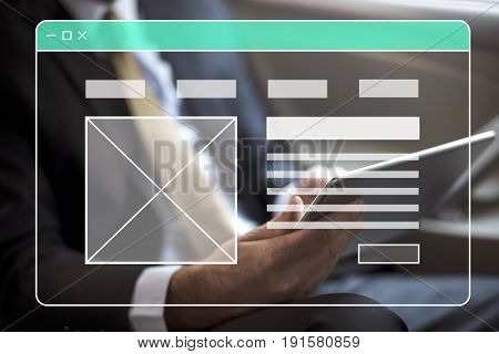 Businessman using digital device