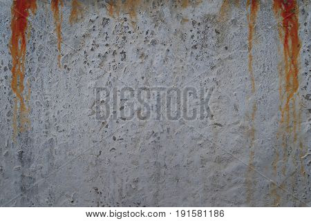 Bloody concrete wall with red blood drops background texture.