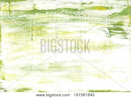 Hand-drawn abstract watercolor. Used colors: White Milk Ivory Light yellow Lotion Medium spring bud Baby powder Middle Green Yellow Moss green Pale goldenrod