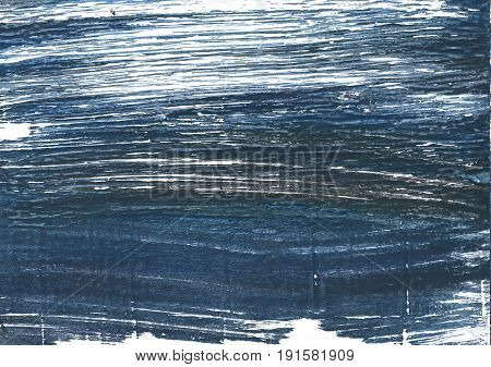 Hand-drawn abstract watercolor. Used colors: Japanese indigo Charcoal Metallic blue White Dark slate gray Gunmetal Dark electric blue UCLA Blue Independence