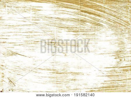 Hand-drawn abstract watercolor background. Used colors: White Lotion Milk Ivory Baby powder Aztec Gold Bronze Snow Vegas gold Metallic Sunburst Cornsilk