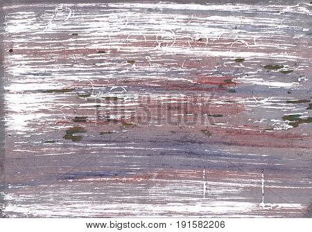Hand-drawn abstract watercolor background. Used colors: White Spanish gray Taupe gray Old lavender Mountbatten pink Rocket metallic Gray Heliotrope gray Philippine gray